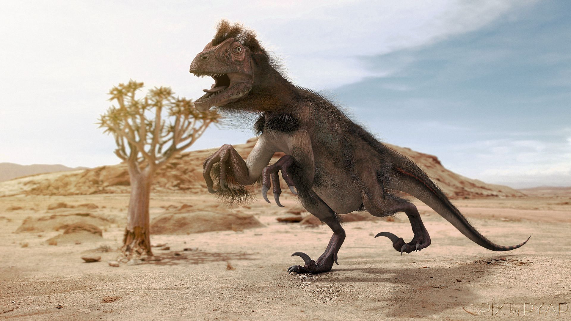 Utahraptor ostrommaysorum - CINEMA4D Pix -