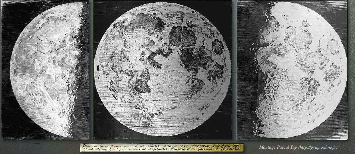 Gravures de la Lune par Claude Mellan, Peiresc et Gassendi