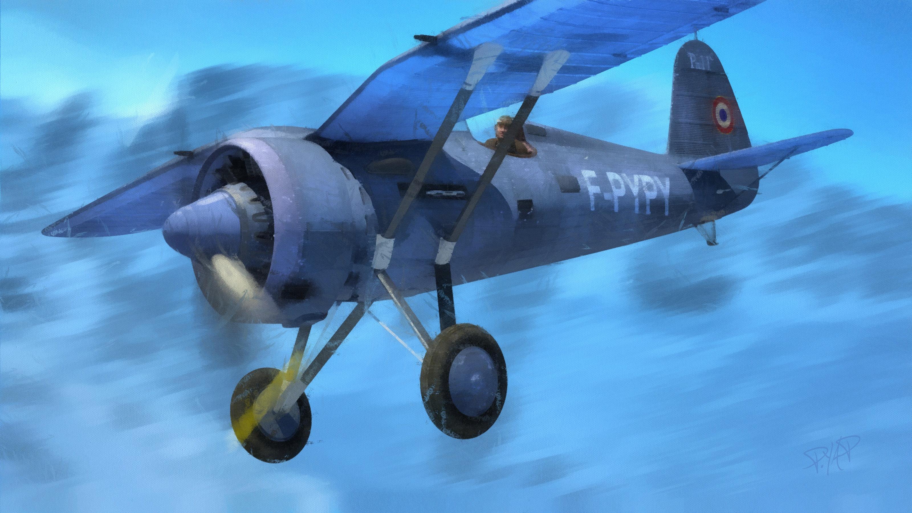 PZL P.11c en peinture