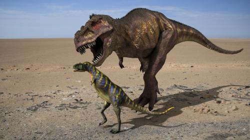 Aucasaurus et un Galiminus.