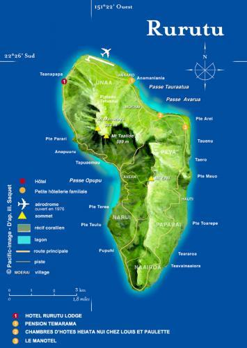 Carte île Rurutu
