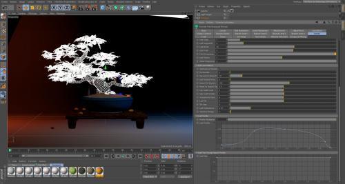 Cinema4D-Forester-feuilles