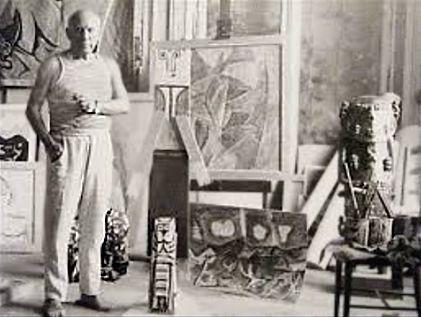 Pablo Picasso et son moulage de A'a.