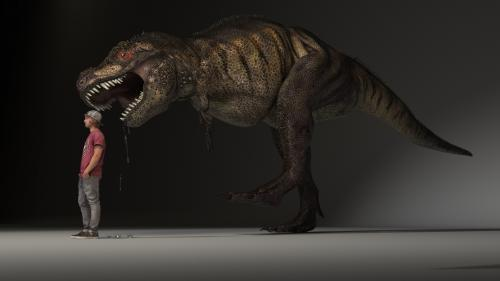 Tyrannosaurus REX et Hans ! OOPS OOPS OOPS...