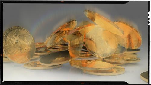 Les Bitcoins, by PYAP. CINEMA4D