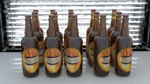 Bouteille de bière Cordoeil (Alpes de Haute Provence) C4D & VRAY.