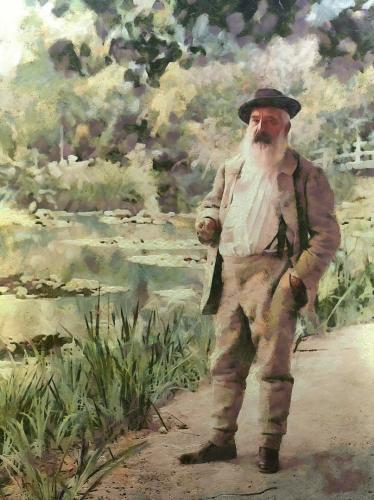 Claude Monet à Giverny en1905