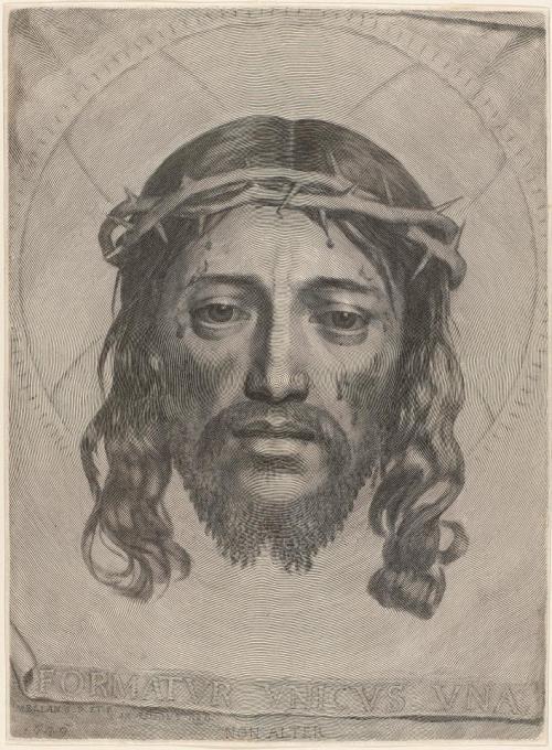 La Sainte-Face du Christ, gravure de Claude Mellan