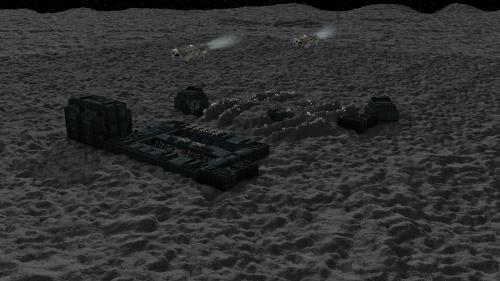 Cosmos 1999, base lunaire