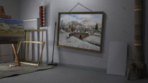 Le Petit Pont de Barrême, dans l'atelier. PIX by PYAP